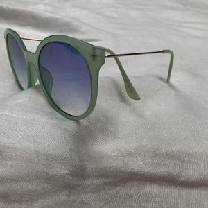 Francesca's Collections Accessories - Teal & Gold Francesca's round Sunglasses